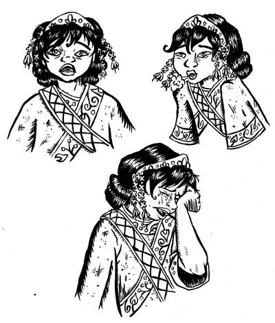 girl, characterdesign, penink - kaytiespellz | ello