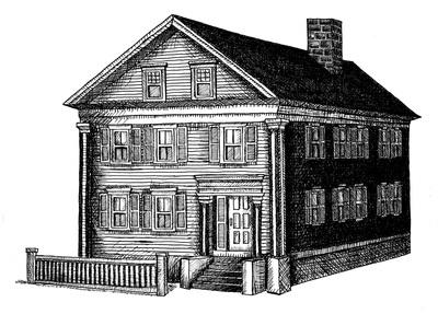 Lizzie Borden House - ink, penink - kaytiespellz   ello