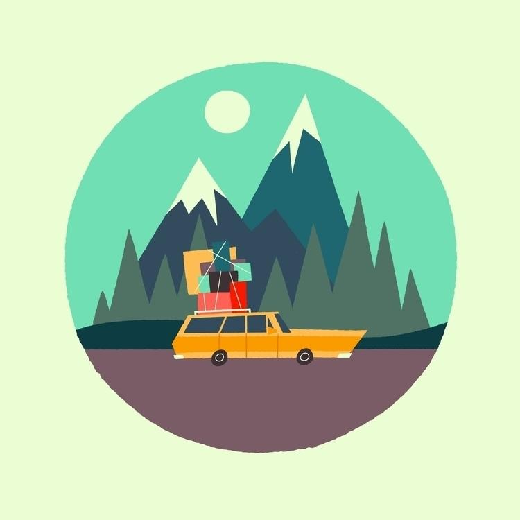 Road Trip - illustration, digitalart - joshuamenas | ello