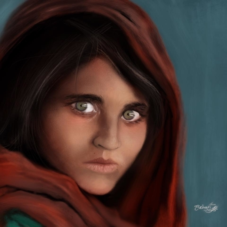 Sharbat Gula Ipad Art - Finger  - mahmoudosama-1421 | ello