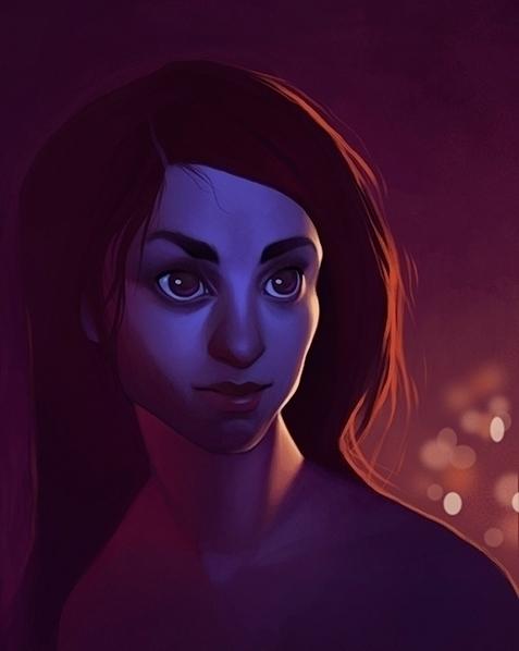 portrait, figuredrawing, red - emilyjulstrom | ello