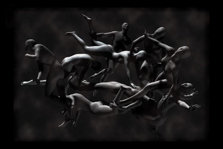 Erotic Dance - 1, 3d, blackandwhite - augustopinho | ello