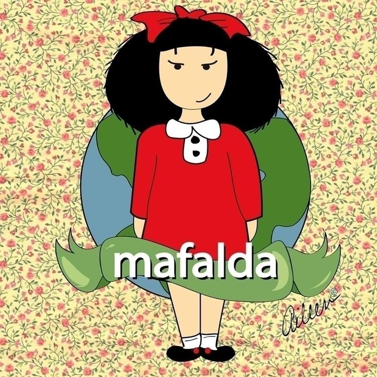 Mafalda - fanart, illustration - aileencopyright | ello