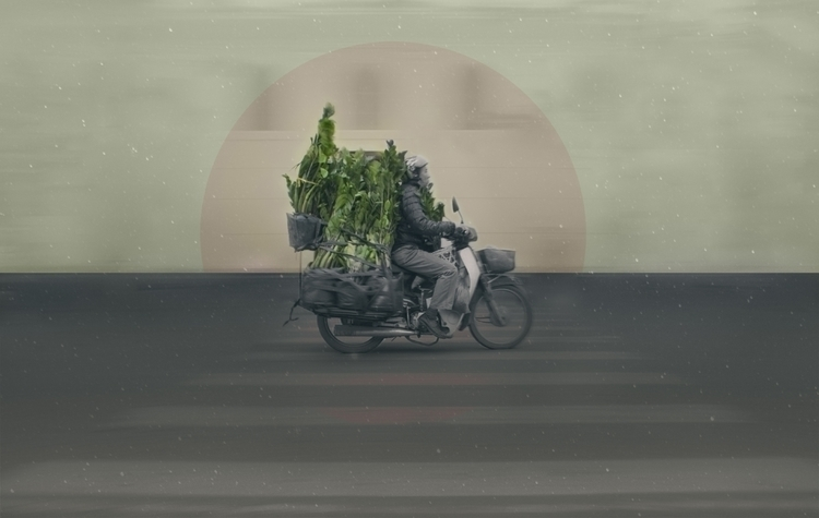 Hanoi Roads - digitalart, vietnam - eliasbranch | ello