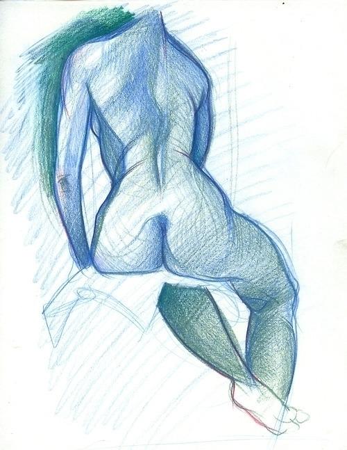 nude, figuredrawing, blue - emilyjulstrom | ello