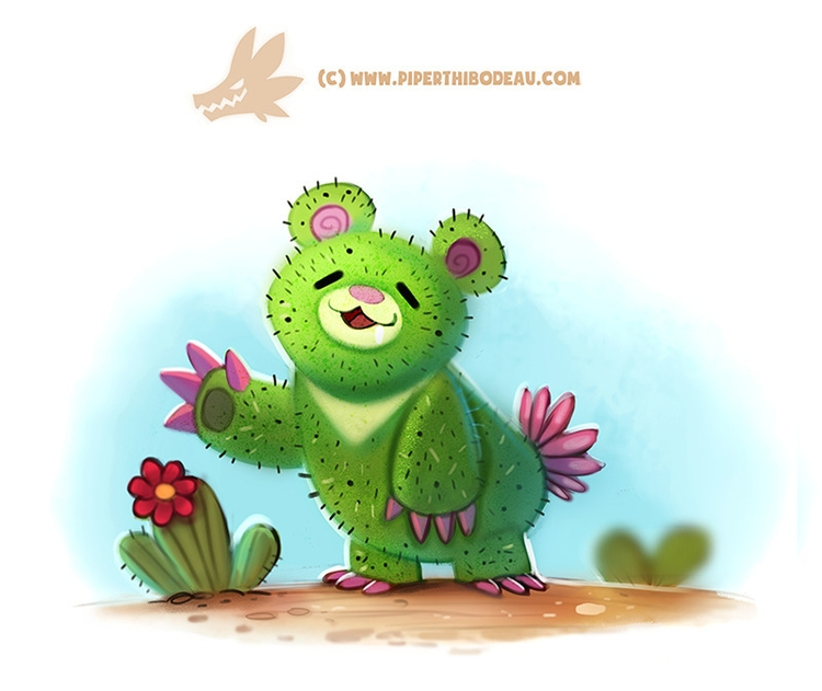 Daily Paint 1310. Prickly Bear - piperthibodeau | ello