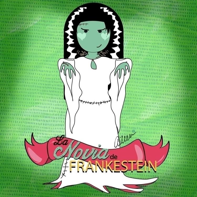 La novia de Frankestein - fanart - aileencopyright   ello