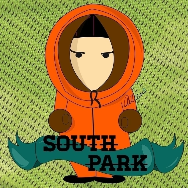 Kenny - South Park - fanart, illustration - aileencopyright   ello
