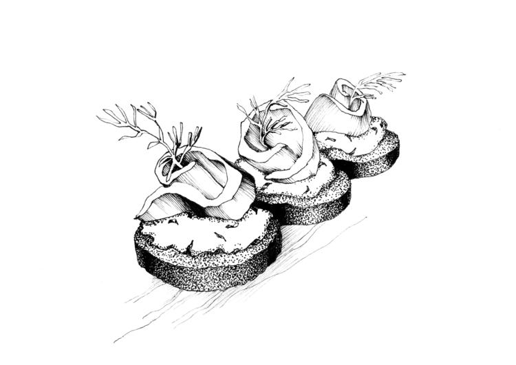 Appetizer - illustration, food, foodillustration - hanna-1284 | ello