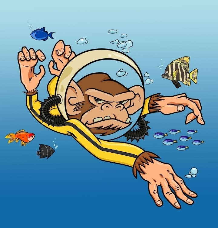 sea monkey - illustration, print - iro-6033 | ello