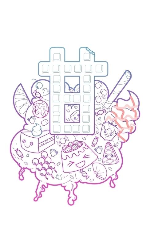 amai - illustration, print, doodle - iro-6033 | ello