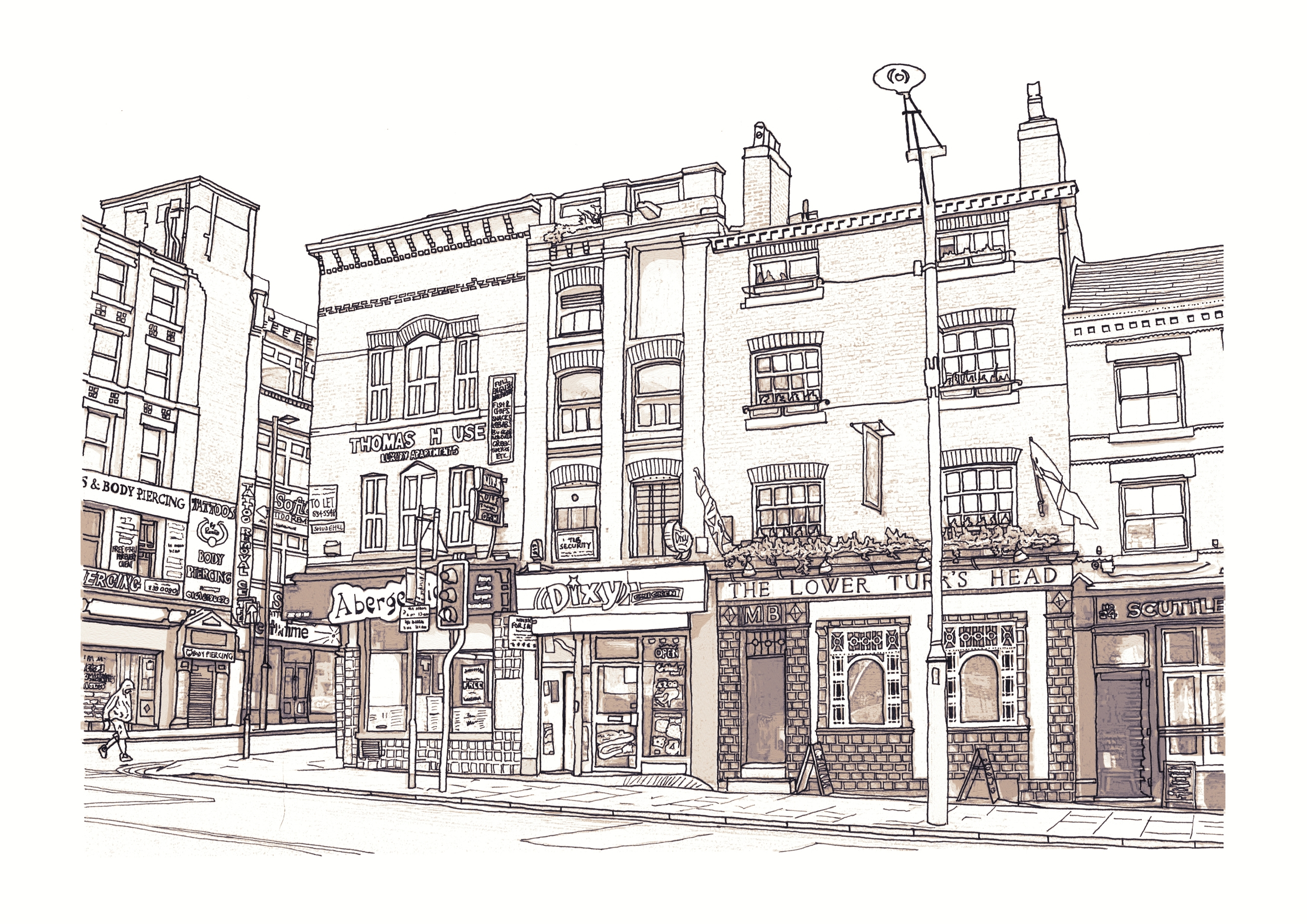 Drawing Shudehill, Manchester U - ajgartanddesign | ello