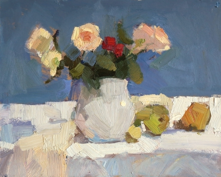 Roses pears 2014, 30x40 cm - oilpainting - georgemamchur | ello