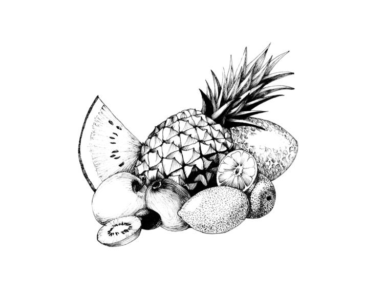 Fruits - food, foodillustration - hanna-1284   ello