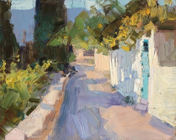 Blue door 2014, 38x30 cm - landscape - georgemamchur | ello