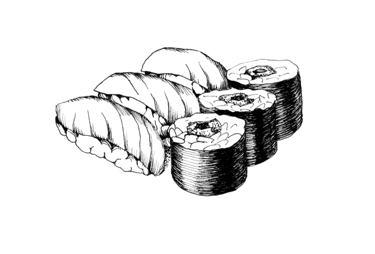Sushi - illustration, food, foodillustration - hanna-1284 | ello