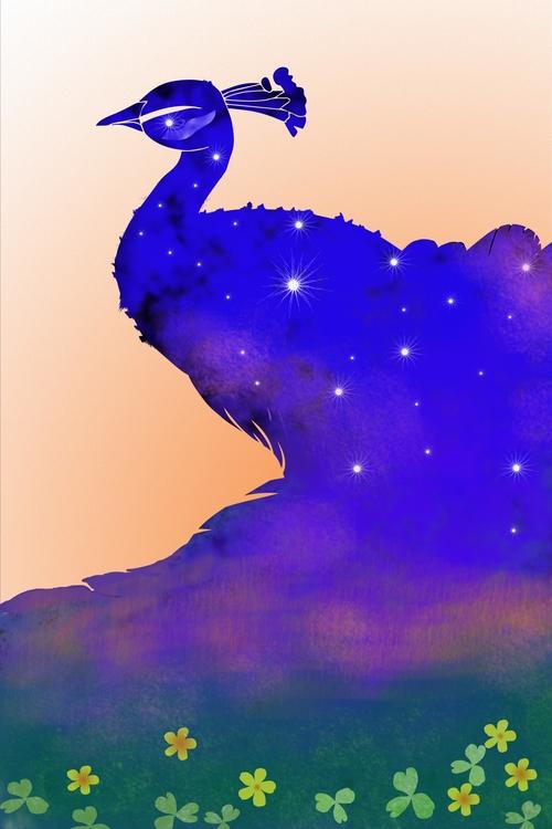 Night sky - illustration#digitalart#design#characterdesign#photoshop#painting#davisvrworks#drawing#conceptart - moonlighttwosu | ello
