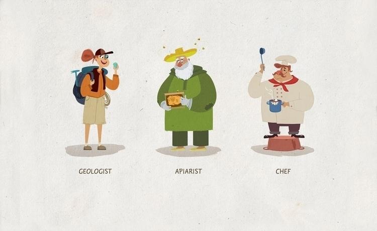 characterdesign, illustration - natalytsiapalo | ello