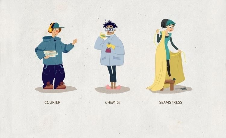 illustration, characterdesign - natalytsiapalo | ello