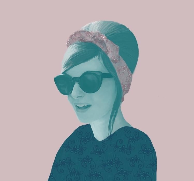 Blogger. Olivia - fanart, fashionillustration - paolawiciak | ello
