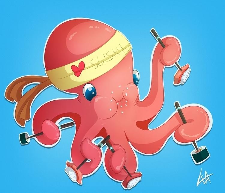 Octopus <3 sushi! enjoys sus - leassel | ello