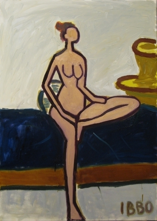 rikke 90x65 oil - painting, drawing - jeffibbo | ello