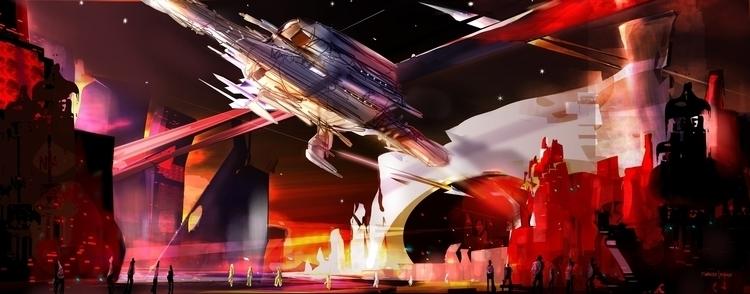 Kinda 60s - conceptart, sci-fi, spaceship - indicator | ello