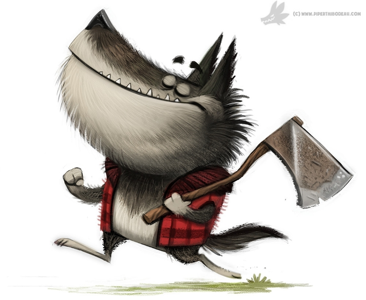 Daily Painting Werewolf Lumberj - piperthibodeau   ello