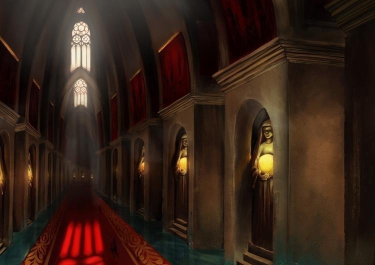 Concept art interior Stormbring - aurorenivet | ello