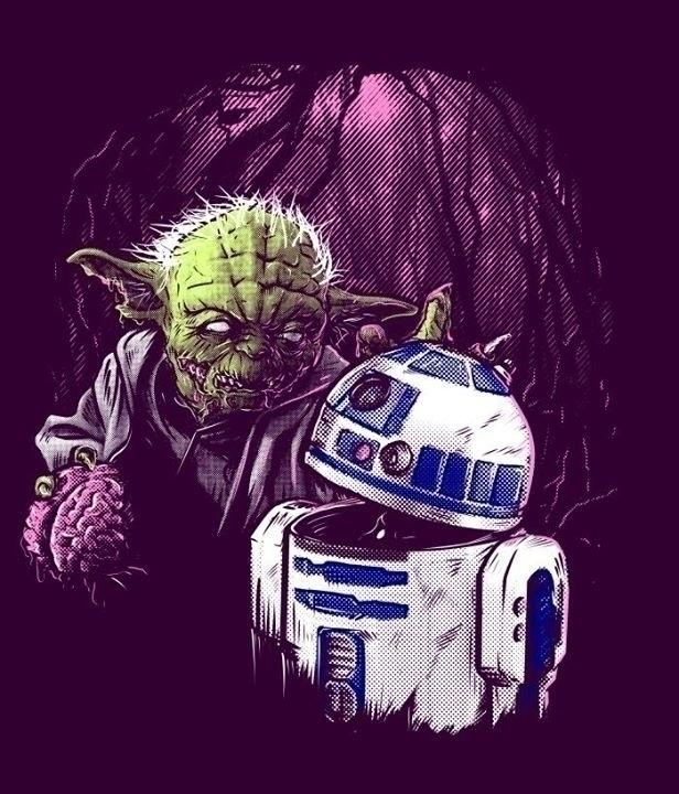 Zombie Yoda yombie Zoda - parody - liviumatei | ello