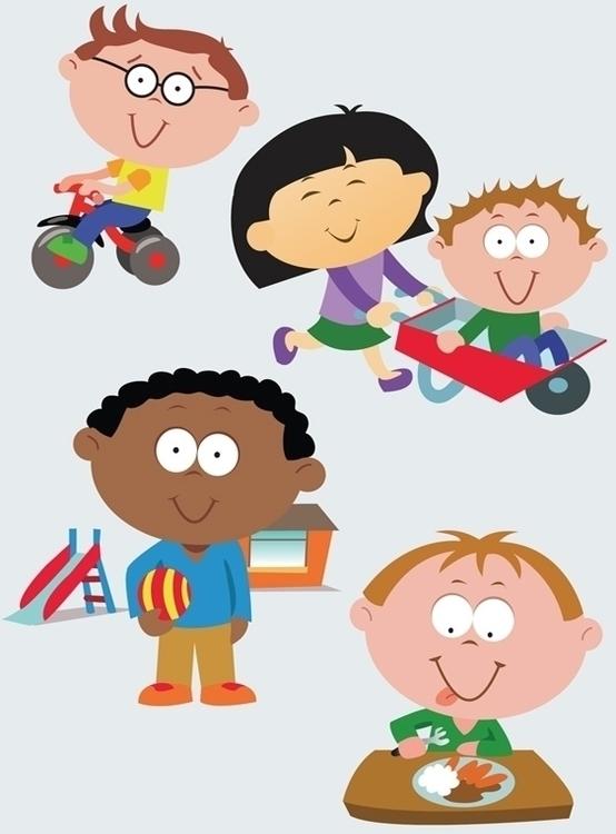 Vector children illustration - vector - ianrward | ello