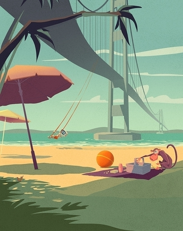 Tacoma Narrows Bridge - bridge, characterdesign - yustas | ello