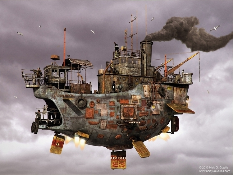 Floating Ship - steampunk, floatingship - aumakua | ello