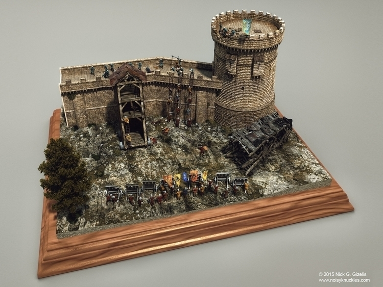 Medieval Siege Diorama - medieval - aumakua | ello