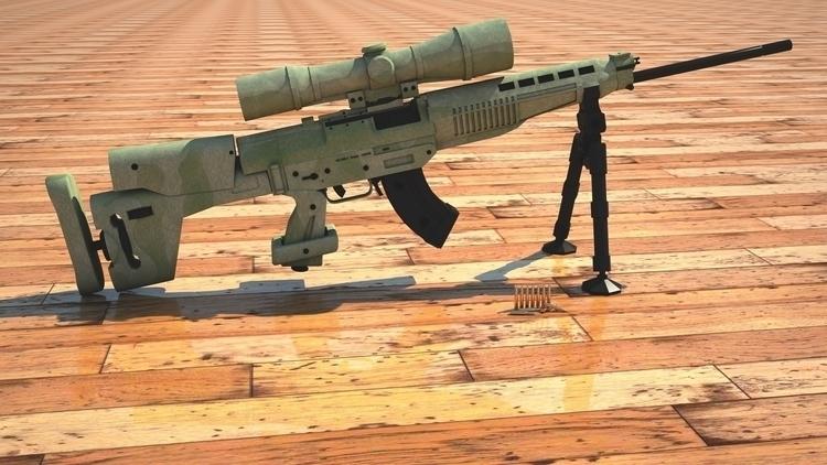 design, gameart, 3d, sniper, weapon - 3donomer | ello