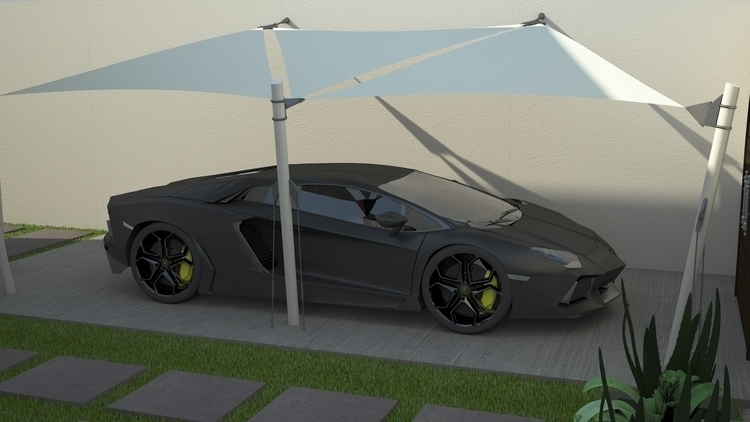 design, environment, 3d, lamborghini - 3donomer | ello