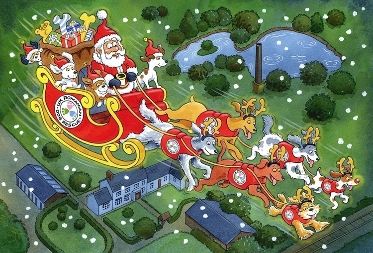 Christmas Card Illustration dog - ianrward | ello
