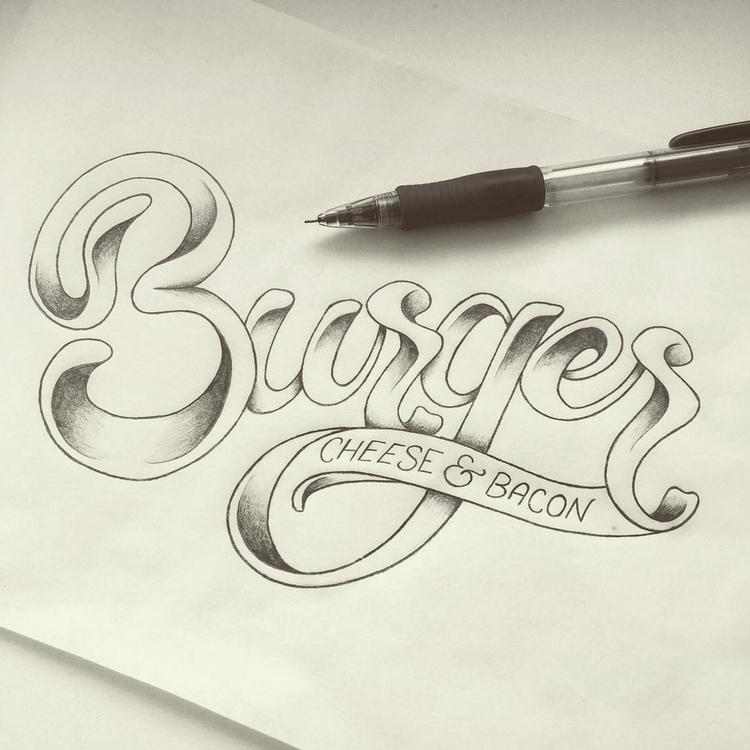 Burger - burger, type, typography - marketa_konta | ello