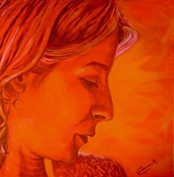 Claudia, acrylic canvas 120x120 - tizianagiammetta   ello