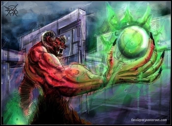 Baron hell, videogame doom. Dig - fasslayer | ello