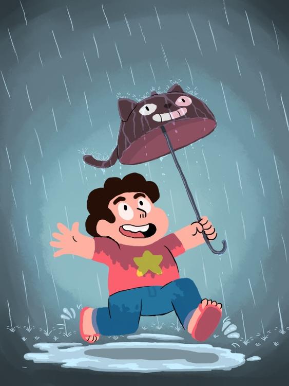 Fun rain - illustration, stevenuniverse - alexjohnston | ello