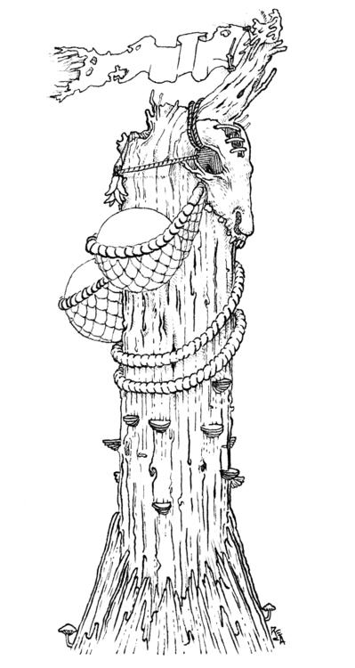 Totem II - illustration, drawing - reca   ello