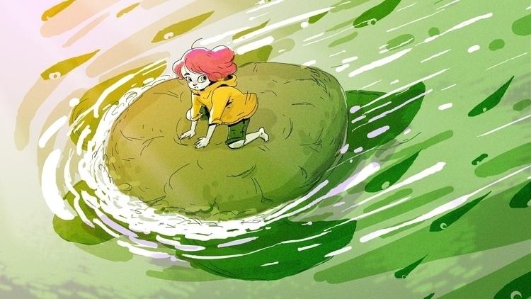 turtle, sea, redhead - mikatakahashi | ello