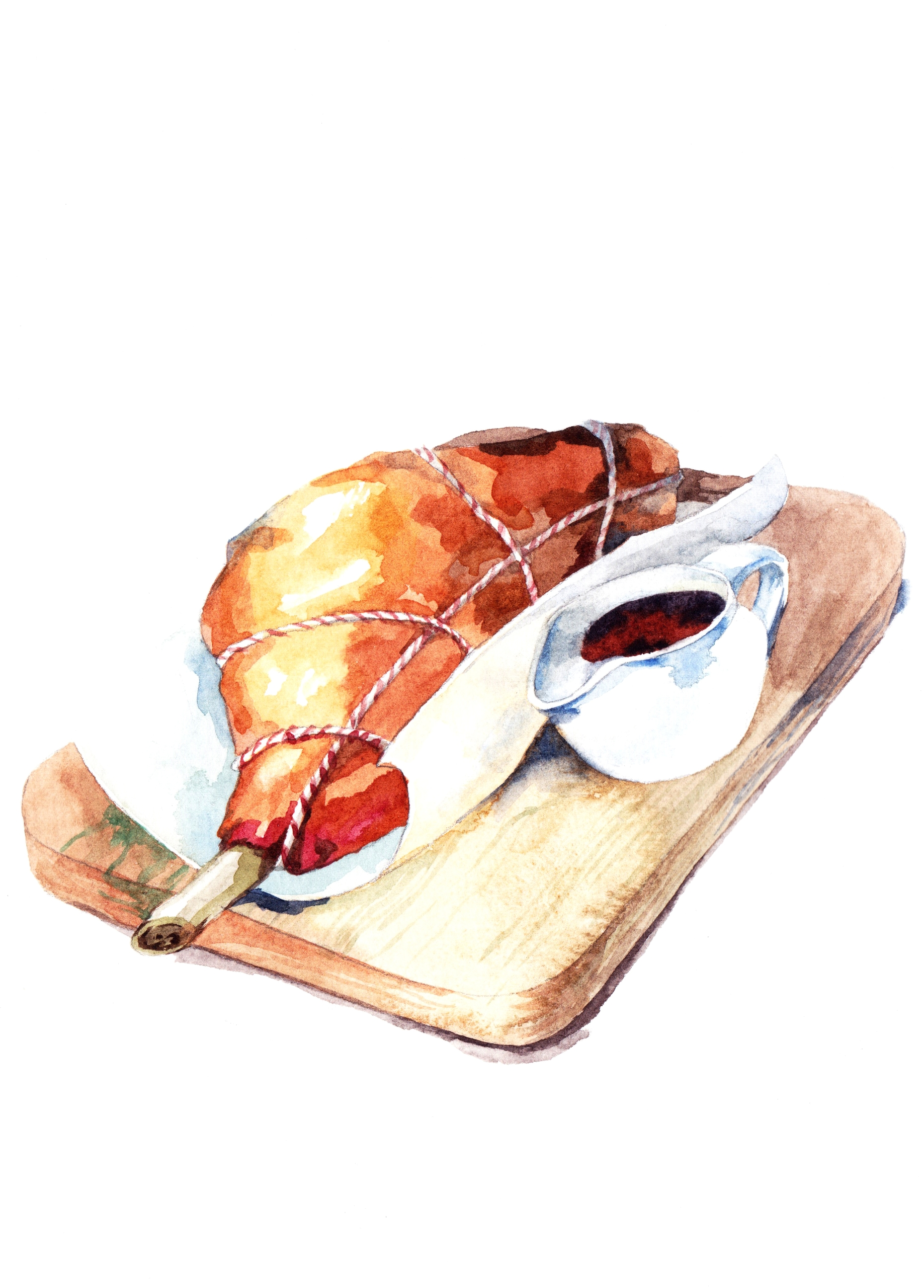 Roast - illustration, painting, food - hanna-1284 | ello