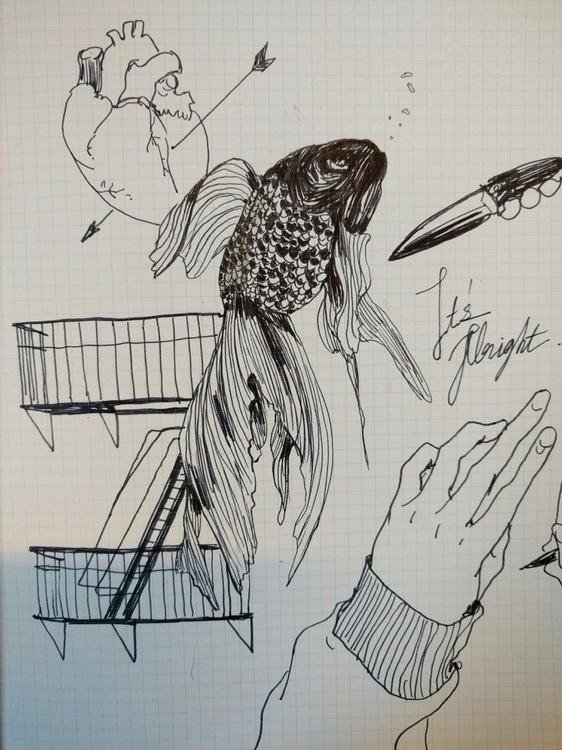 illustration, doodle, pen, drawing - mioim   ello