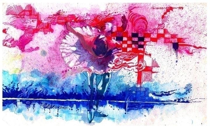 ballet dancer - painting - sunnyefemena | ello