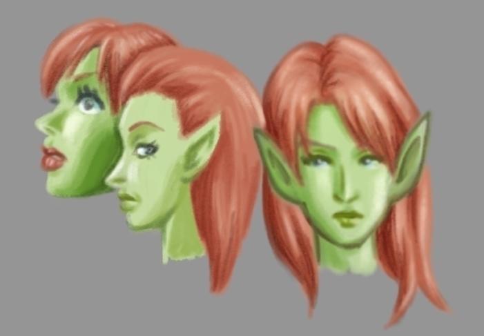 Elf faces. origin sketches napk - fdrawer | ello