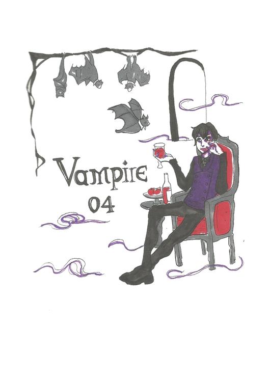 04 Vampire - illustration, characterdesign - hotshots2000 | ello