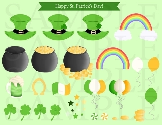 St. Patricks Day Clip Art - illustration - bridgetpavalow | ello