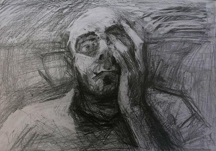 ,,Selfdestruction 1''; graphite - ivanmitic | ello